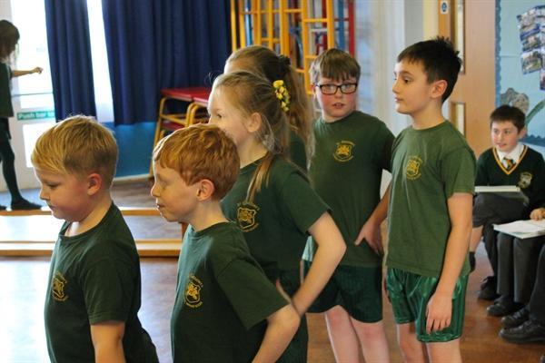 Year 3 & Year 5 Gymnastics Lesson together