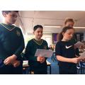 Pupil Leadership Team presenting their ideas to the school via Zoom!