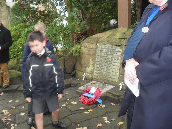 Representing St. Gregory's at The War Memorial