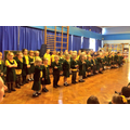 EYFS & KS1 gather together for Worship
