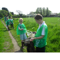 School Council doing the Canal Clean Up