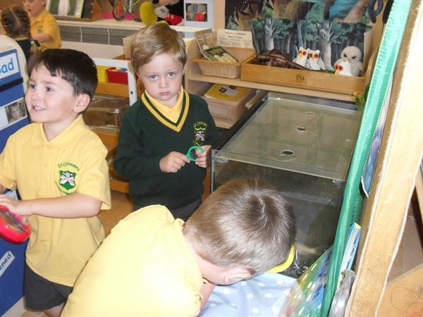 Our very first day in Reception Class
