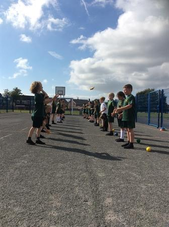 PE fun with Miss Cousins from Maricourt!