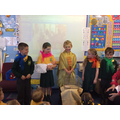 Role playing a Baptism - Signs & Symbols topic.
