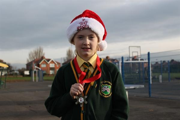 Amy completed the Santa Dash