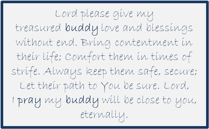 A Prayer for our Year 6 & Reception Class Buddies
