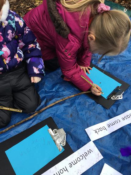 Writing messages to the fairies