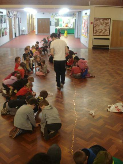 In KS1, we made a penny snake