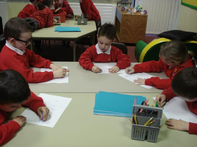 We practised our number formation