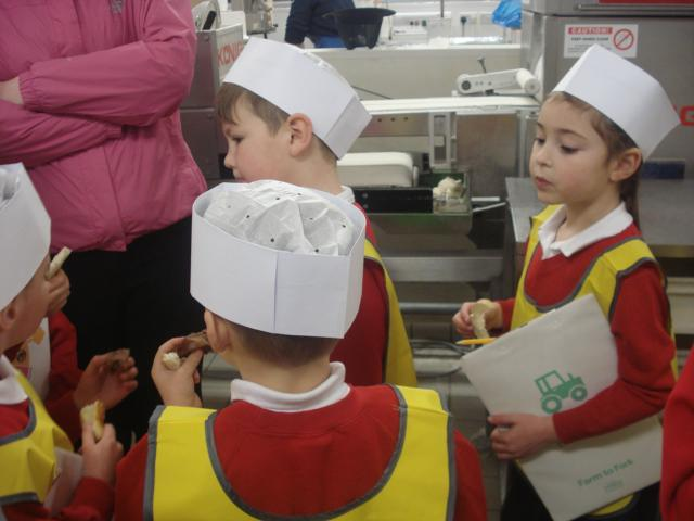 We tasted different types of bread