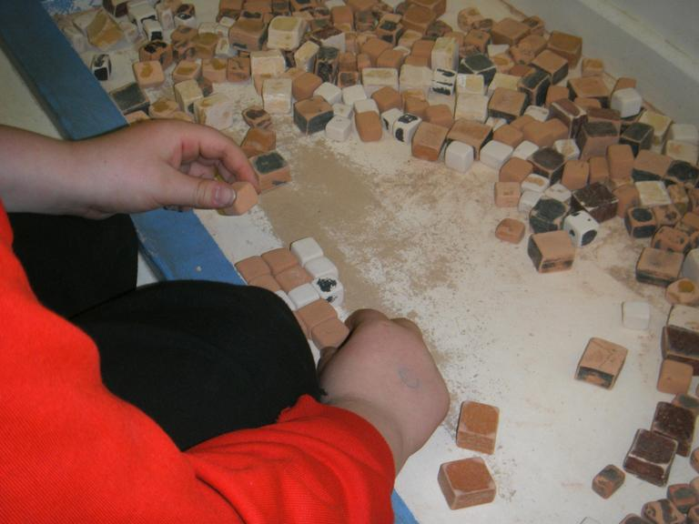 Roman Mosaic making.