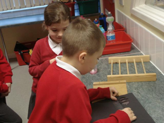 We measured with a ruler
