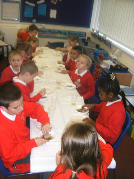 We enjoyed tasting all our food!