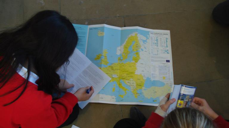 We did a quiz about the European Union.