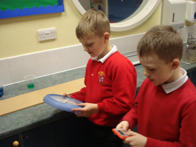 We used analogue and digital clocks to time