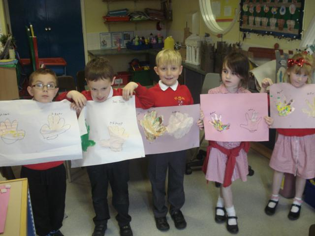 Year 1 painted pictures to show the germs