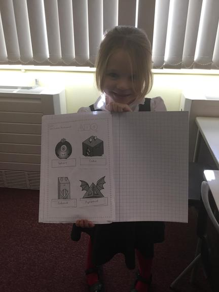 Excellent work, naming the 3D shapes!