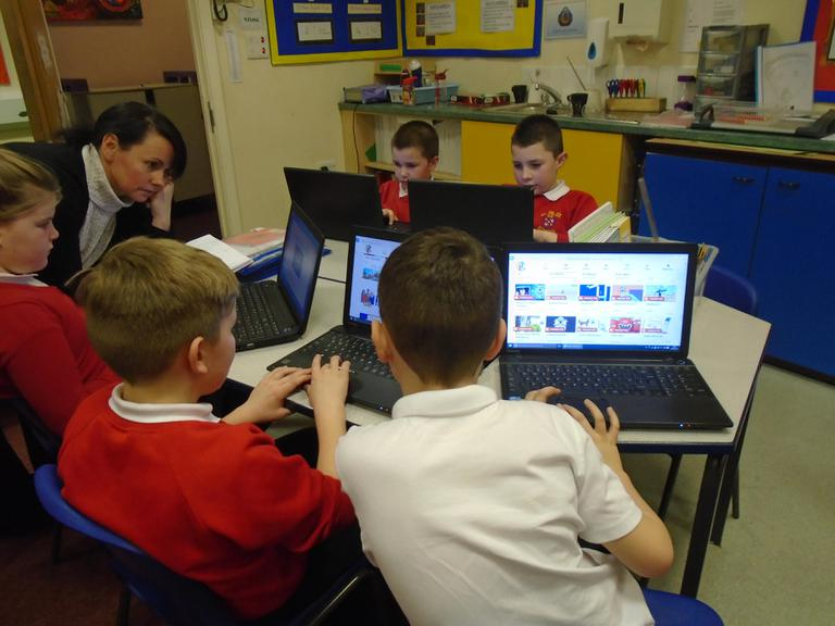Year 4 used the laptops