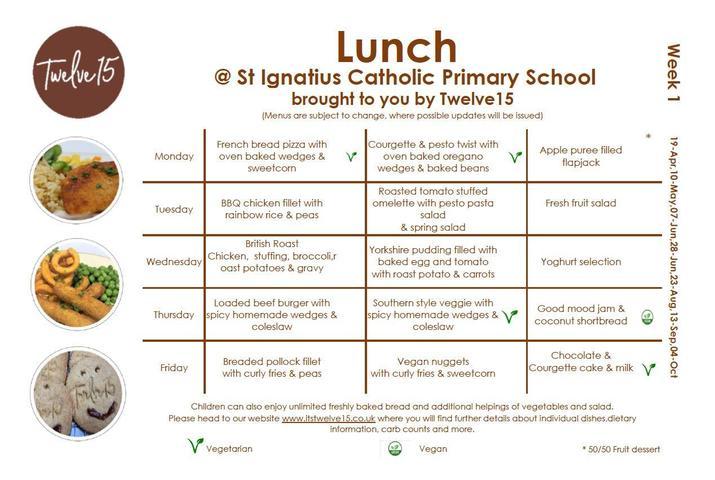 Lunch Menu Week 1