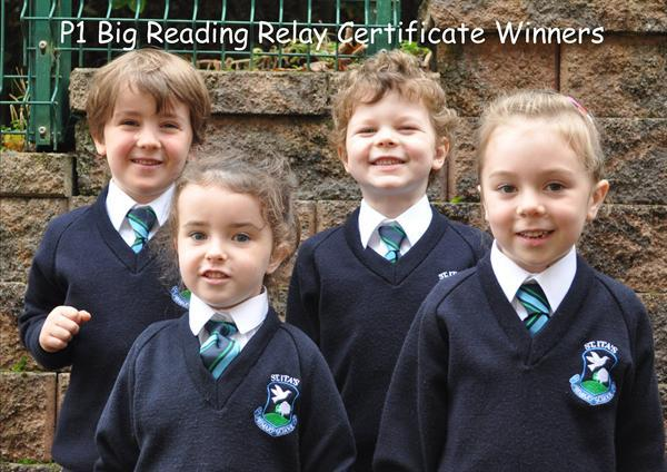 P1 Big Reading Relay Certificate Winners