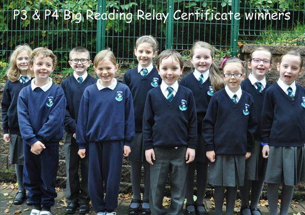P3 & P4 Big Reading Relay Certificate Winners