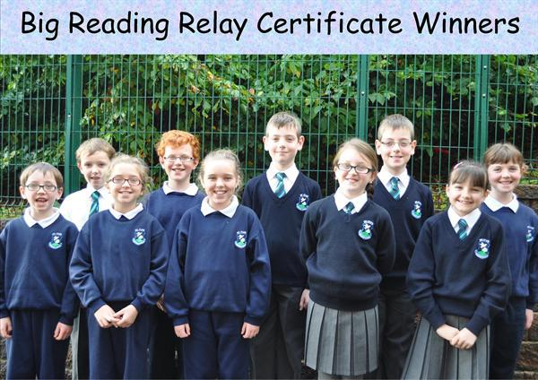 P5, P6 & P7 Big Reading Relay Certificate Winners