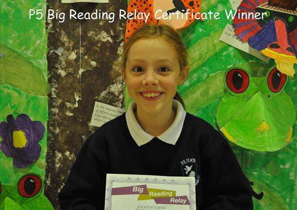 P5 Big Reading Relay Certificate Winner
