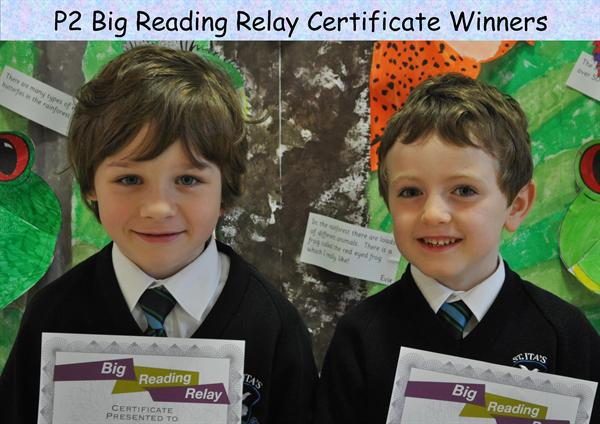 P2 Big Reading Relay Certificate Winners