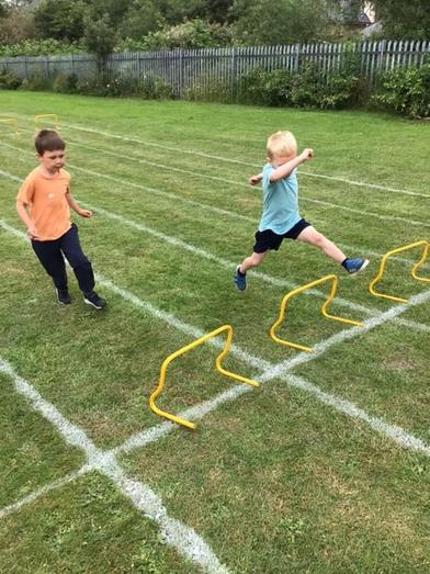 We have very long legs for hurdles!