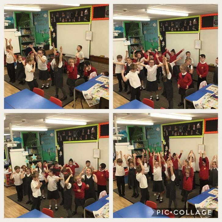 KS1 singing and performing in class