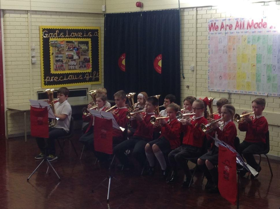 Yr4 and 5 brass concert for parents.