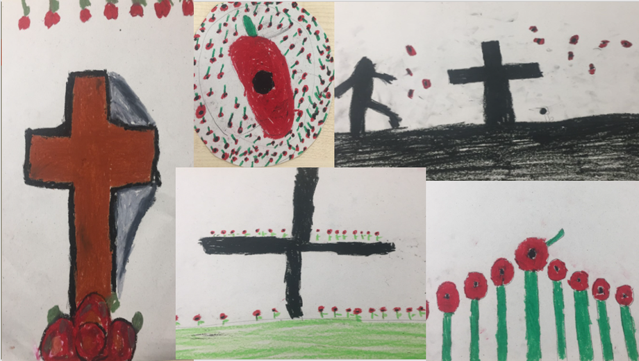 Our art work on Remembrance Day