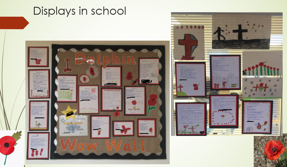 Our poetry an art work on Remembrance Day