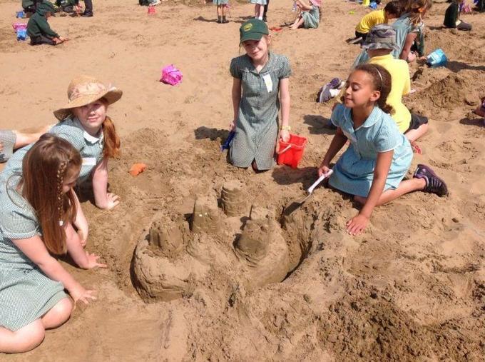 Fun at the beach in Weston