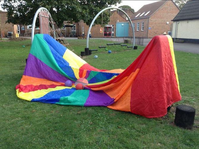 Year 1 made a tent at Multi-Skills.