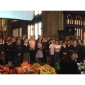 Year 3 singing a Harvest song.