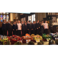 Year 6 performing a Harvest rap!