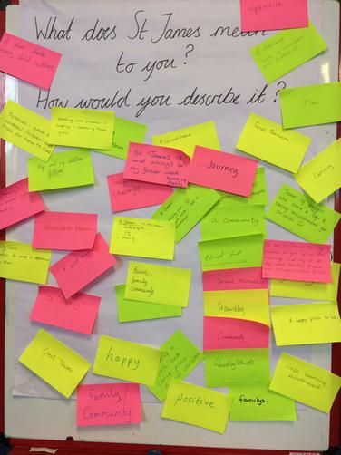 Staff suggestions of What St James means to us.