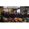 Year 4 performing a song.