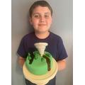 Tornado Destruction Cake