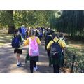 ...walked through St James' Park...