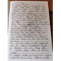 Desert description by Oliver G. Lovely handwriting