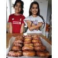 Sohana and Karter Krispy Kreme Doughnuts