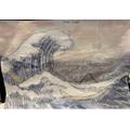 Deesal's Hokusai wave painting. Incredible!