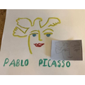 A Picasso inspired picture by Isobel. Amazing!