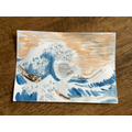 Isobel W's Hokusia Wave painting. Wow!