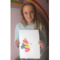 A Picasso inspired picture by Lyra. Wow!