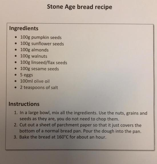 Why not try and make some Stone Age bread at home?