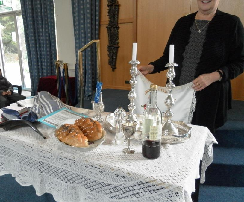 The table prepared for Shabbat