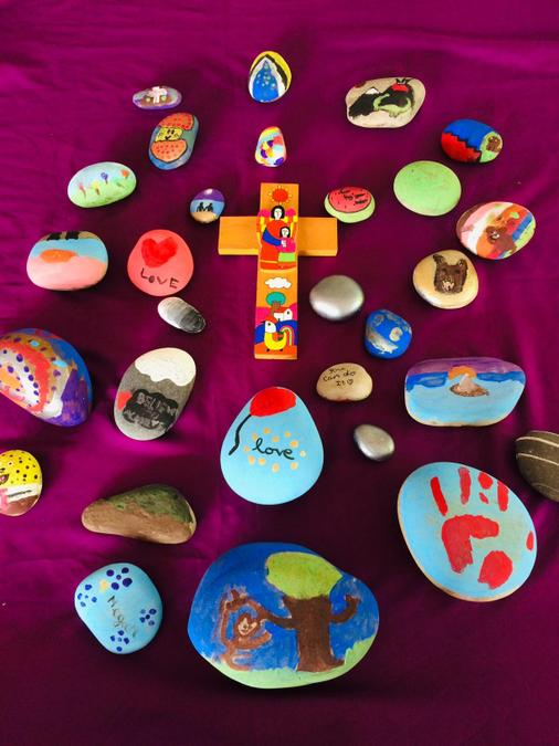 Easter Pause Day Worry Stones